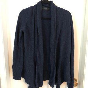 Sweaters - Navy 100 % Cashmere Drape Cardigan - Small